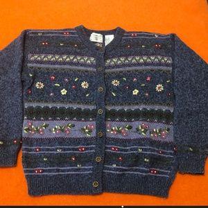Vintage  Northern Reflections wool blend cardigan
